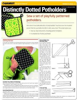 Sewing Project: Distinctly Dotted Potholders (Quamut)