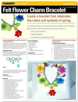 Jewelry Making & Beading Projects: Felt Flower Charm Bracelet (Quamut)