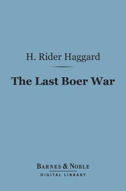 The Last Boer War (Barnes & Noble Digital Library)