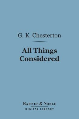 All Things Considered (Barnes & Noble Digital Library)