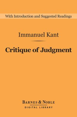 Critique of Judgment (Barnes & Noble Digital Library)