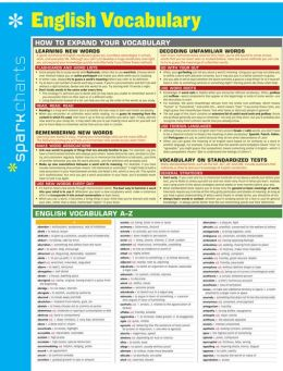 English Vocabulary SparkCharts