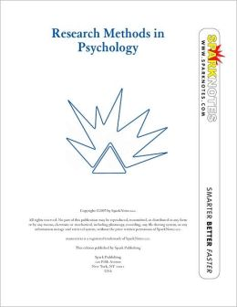 Research Methods in Psychology (SparkNotes Psychology Guide Series)