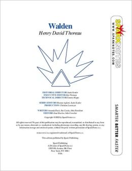 Walden (Spark Notes Philosophy Guide)