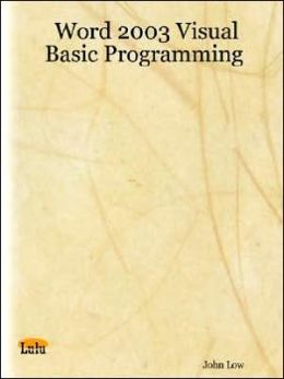 Word 2003 Visual Basic Programming