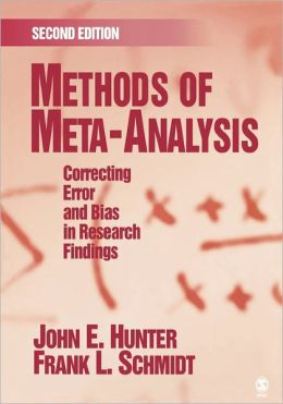 Methods of Meta-Analysis: Correcting Error and Bias in Research Findings