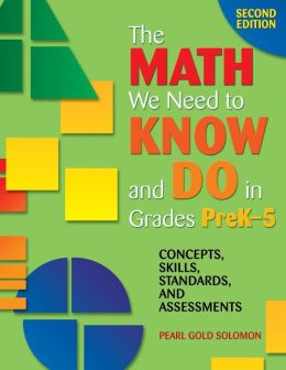 The Math We Need to Know and Do in Grades PreK-5: Concepts, Skills, Standards, and Assessments