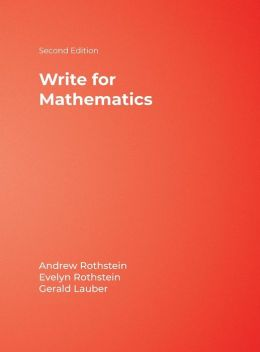 Write for Mathematics