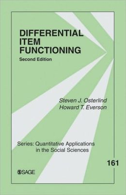 Differential Item Functioning (Quantitative Applications in the Social Sciences Series)