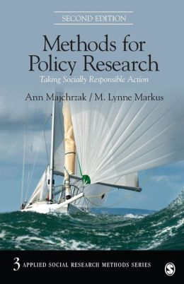 Methods for Policy Research: Taking Socially Responsible Action