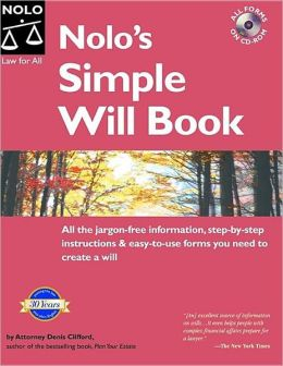 Nolo's Simple Will Book, with CD-ROM