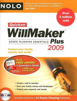 Quicken WillMaker Plus 2009 Edition: Estate Planning Essentials