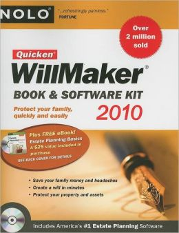 Quicken Willmaker Book and Software Kit 2010 Edition (Includes Estate Planning Essentials)