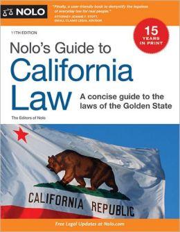 Nolo's Guide to California Law