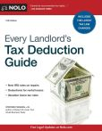 Book Cover Image. Title: Every Landlord's Tax Deduction Guide, Author: Stephen Fishman J.D.