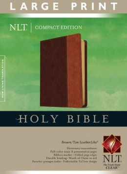 Compact Edition Bible NLT, Large Print, TuTone