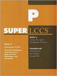 SUPERLCCS: Subclass PJ-PK: Oriental philology and literature, Indo-Iranian philology and literature