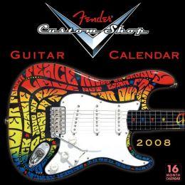 2008 Fender Custom Shop Guitar Wall Calendar