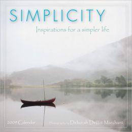 2009 Simplicity Mini Wall Calendar