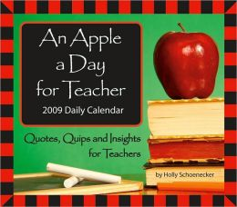2009 An Apple a Day for Teacher Box Calendar