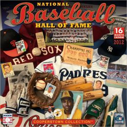 2012 Baseball Hall of Fame Wall Calendar