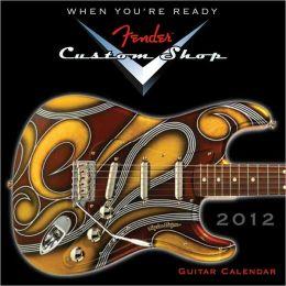 2012 Fender Custom Shop Guitar Mini Wall Calendar