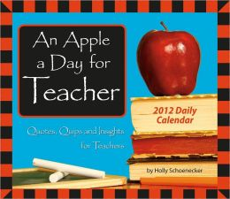 2012 An Apple a Day for Teacher Box Calendar