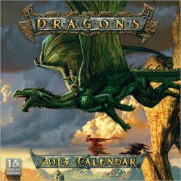 2013 Dragons by Ciruelo Wall Calendar