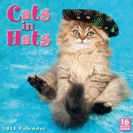 2014 Cats in Hats Wall Calendar