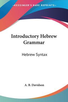 Introductory Hebrew Grammar