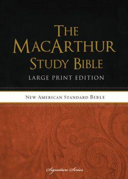 NASB MacArthur Study Bible Large Print