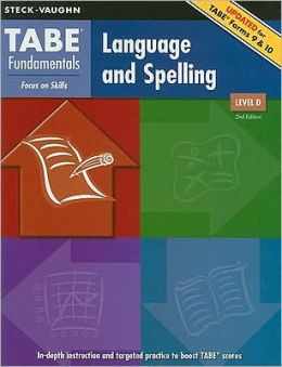 Steck-Vaughn TABE Fundamentals: Student Edition Language and Spelling, Level D
