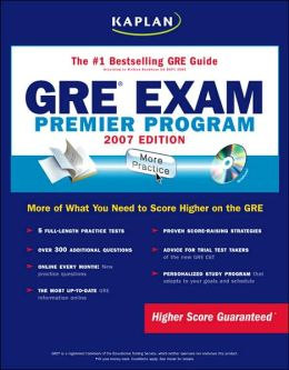 Kaplan GRE Exam 2007: Premier Program (CD-ROM)