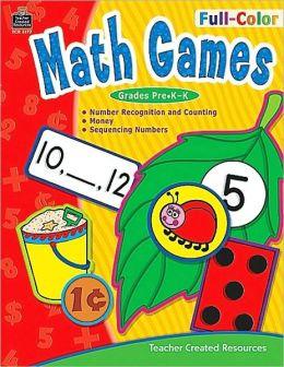 Full-Color Math Games K-1