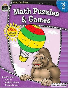 Math Puzzles and Games: Grade 2