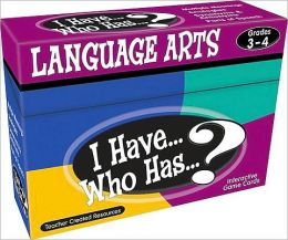 I Have... Who Has...? Language Arts Interactive Game Cards, Grades 3-4