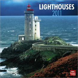 2011 Lighthouses Square Wall Calendar