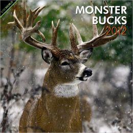 2012 Monster Bucks Square 12X12 Wall Calendar