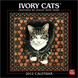2012 Ivory Cats-Paintings by Lesley Anne Ivory Squa Wall Calendar