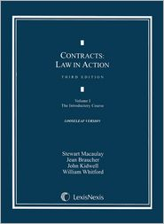 Contracts: Law in Action: Volume I: The Introductory Course, Third Edition, 2010 (Loose-leaf version)