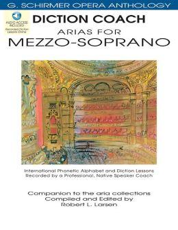 Diction Coach - G. Schirmer Opera Anthology - Arias for Mezzo-Soprano