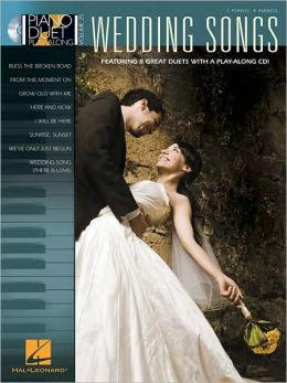 Wedding Songs: Piano Duet Play-Along, Volume 25
