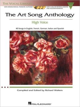 The Art Song Anthology: Recorded Diction Lessons and Piano Accompaniments the Vocal Library Low Voice