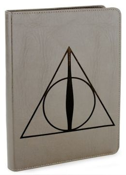 Harry Potter Deathly Hallows Grey Flexi Lined Journal 6 X 8.25