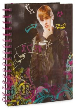 Justin Bieber Wire-o Lined Lenticular Journal 6.5 X 8.5