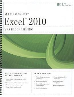 Excel 2010: VBA Programming [With CDROM]