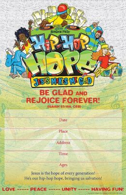 Vacation Bible School 2013 Hip-Hop Hope Promo Poster VBS: Jesus Makes Me Glad!