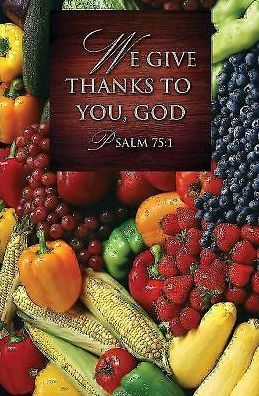 We Give Thanks/Thanksgiving Bulletin 2013, Regular Size (Package of 50)