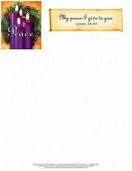 Advent Purple Letterhead 2013 (Package of 50)