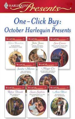 One-Click Buy: October Harlequin Presents